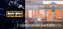 Collage de pantallazos de Angry Birds Star Wars
