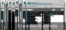 Collage de pantallazos de Daniusoft Digital Music Converter