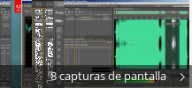 Collage de pantallazos de Adobe Audition