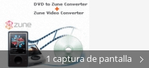 Collage de pantallazos de Zune Video Converter