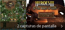 Collage de pantallazos de Heroes Of Might And Magic - In The Wake of Gods