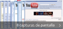 Collage de pantallazos de 1-Click YouTube Downloader