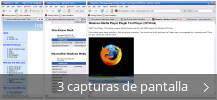 Collage de pantallazos de Windows Media Player Firefox Plugin
