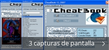 Collage de pantallazos de Cheatbook