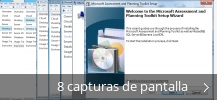 Collage de pantallazos de Microsoft Assessment and Planning Toolkit