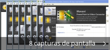 Collage de pantallazos de Movavi PowerPoint to Video Converter