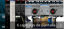 Collage de pantallazos de Virtual DJ Home