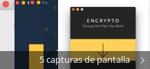 Collage de pantallazos de Encrypto
